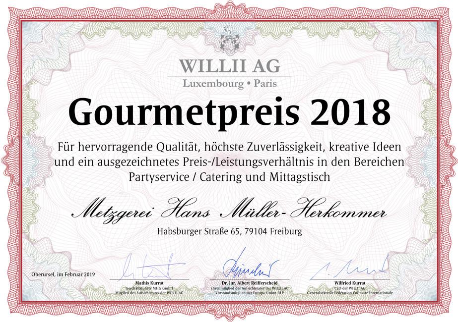 Bild: Gourmetpreis 2018